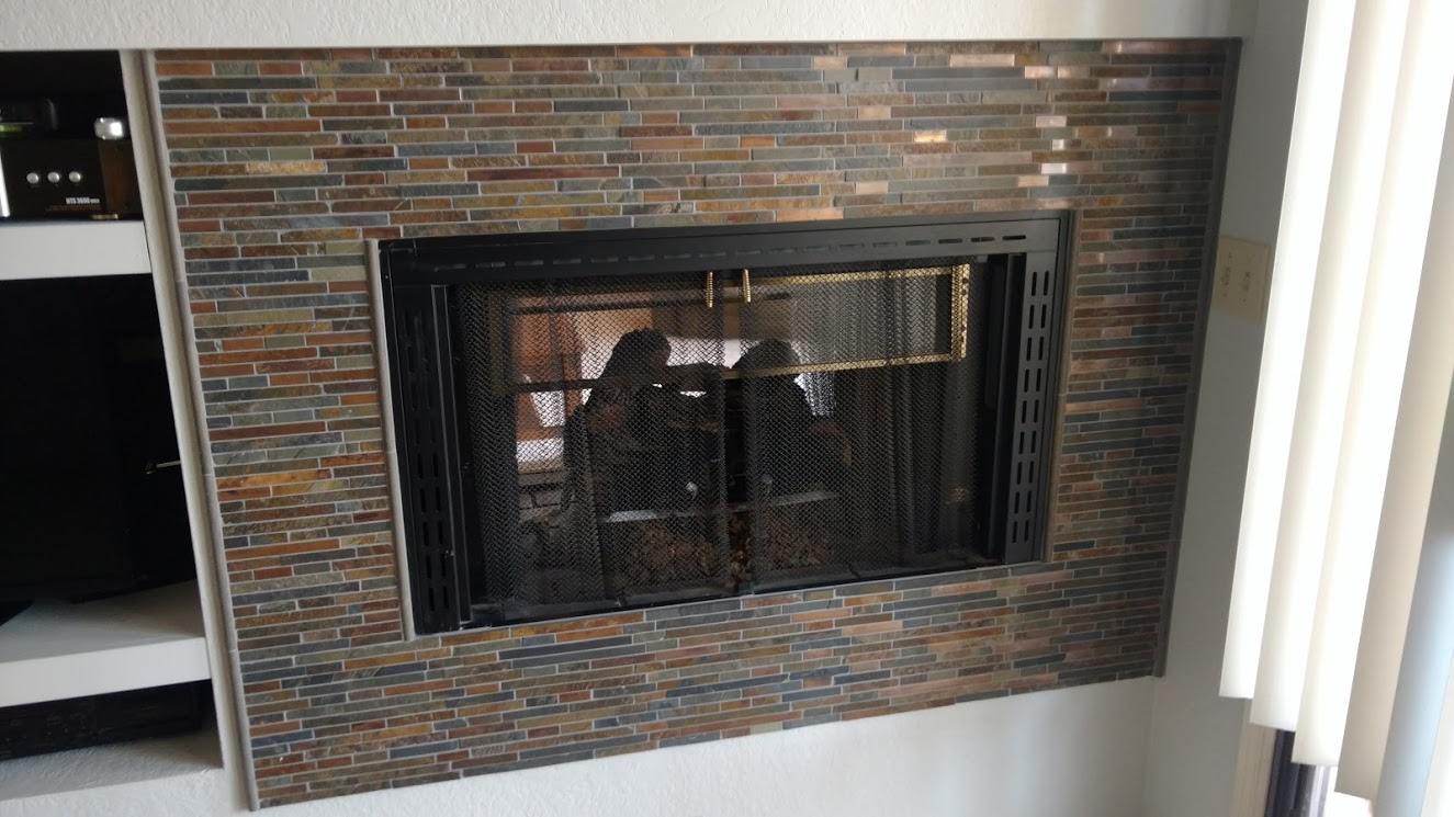 Stacked Stone Fireplace Arizona Complete Remodel Llc